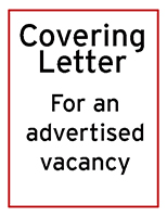 Sample covering letter for an advertised job