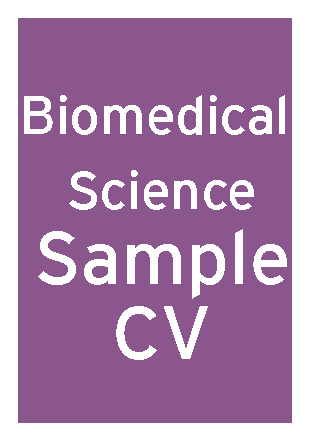 Biomedical Sciences Graduate CV thumbnail