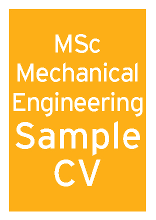 Mechanical Engineering MSc CV thumbnail
