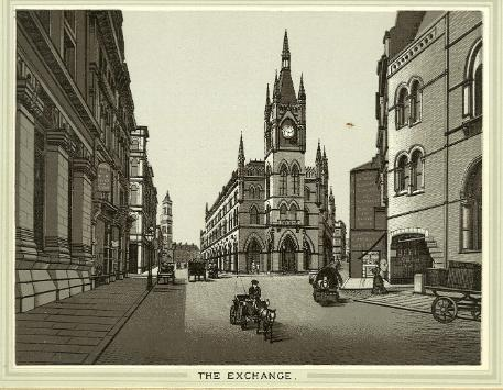 View of the Wool Exchange, Bradford, circa 1890. From An Album of Bradford Views, Special Collections, reference Local/ALB